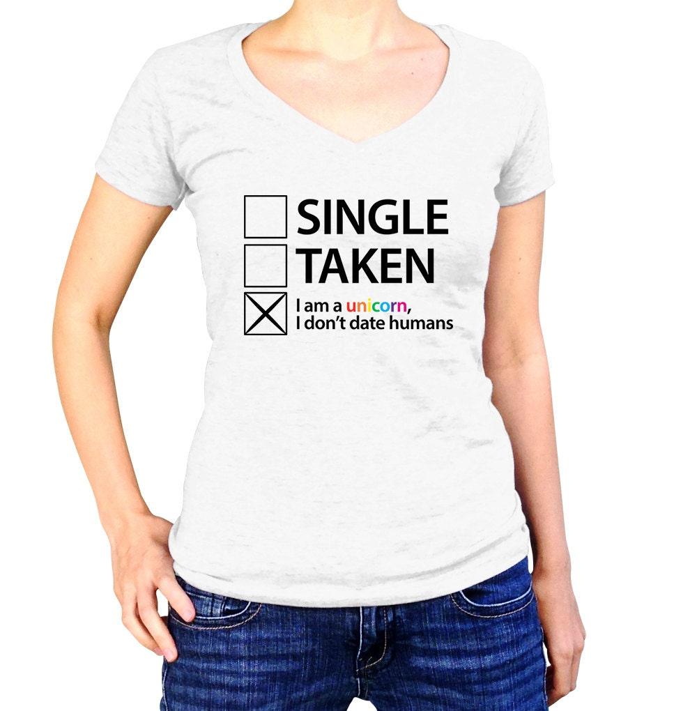 Unicorn Shirt Im Single Social Anxiety Rainbow