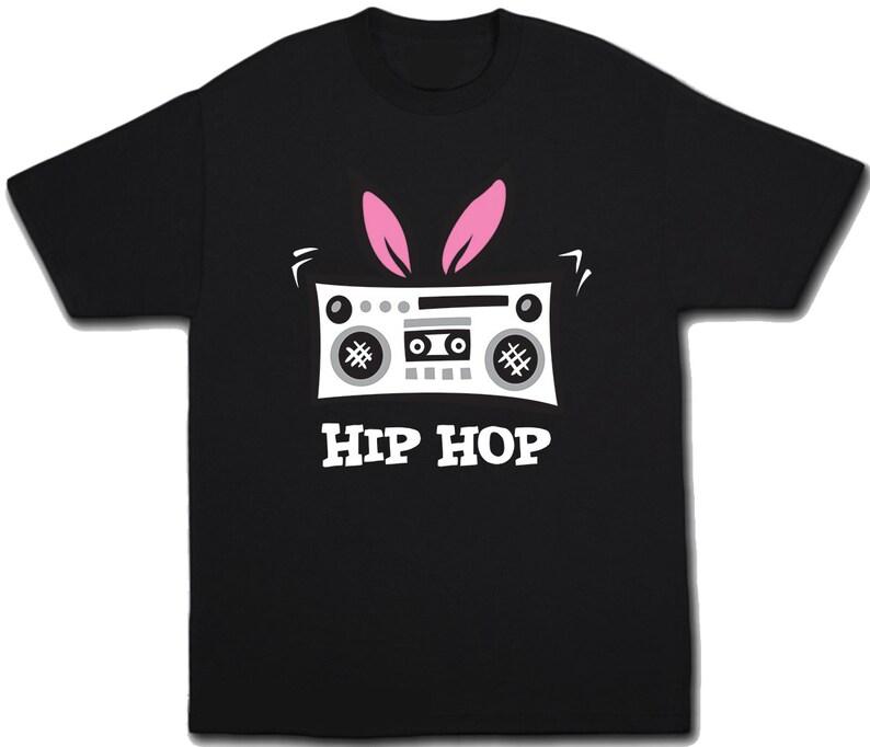 51276c368 Kids Easter Shirt Hip Hop Shirt Easter Bunny Shirt Boys Easter   Etsy