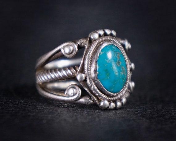 Rare Old Pawn Turquoise Navajo Ring