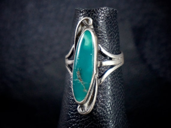 Old Pawn Navajo Turquoise Ring