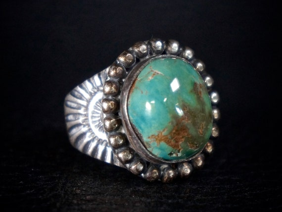 Navajo Royston Turquoise Ring by George Kee