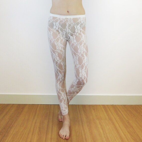 b275395230b Ivory lace leggings
