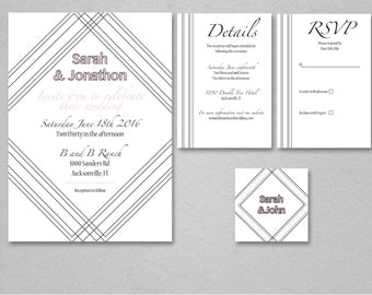 Geometric Simple Invitation Suite