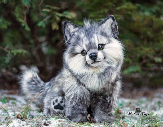 Custom Order Poseable Wolf Cub 100 Handmade Ooak Dolls Etsy