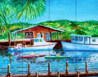 Shem Creek Tile Mural, High Quality (will not fade), Indoor & Outdoor, Beach Wall Tiles, Backsplash, Shower, Mosaic