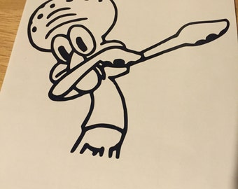 Squidward Dab Etsy