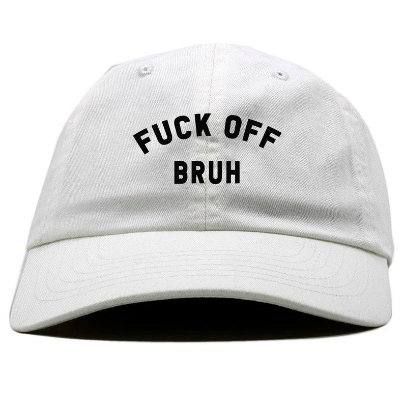 5e55ce19f54 Fuck Off bruh streetwear cycling cap supreme