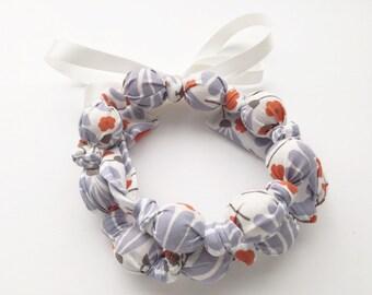 Organic Lavender Floral Breeze Fabric Teething Nursing Necklace by Wee Kings