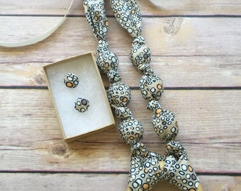 Pebbles Fabric Teething Ring Statement Necklace by Wee Kings