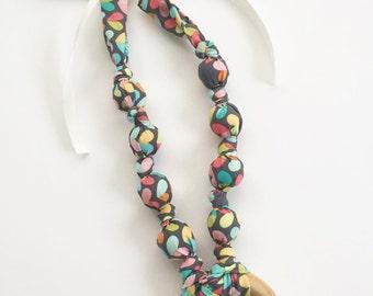 Love Bug Fabric Teething Ring Nursing Necklace by Wee Kings