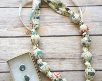 Organic Wild Berries Fabric Teething Statement Necklace by Wee Kings