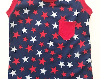 Stars Pocket Tank Top Girls/Boys Unisex by Wee Kings