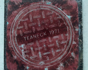 Teaneck 71'  Coaster / Print (cranberry)