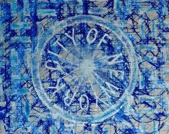 City of NY blue -Coaster / Print