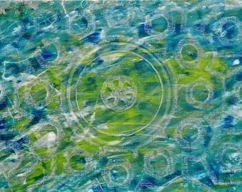 green cbs -Coaster / Print