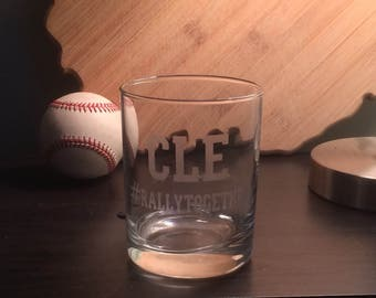Cleveland Indians Rocks Glass - Cleveland Indians  #RallyTogether - CLE - Cleveland -  Ohio - Tribe - Flat shipping up to 4