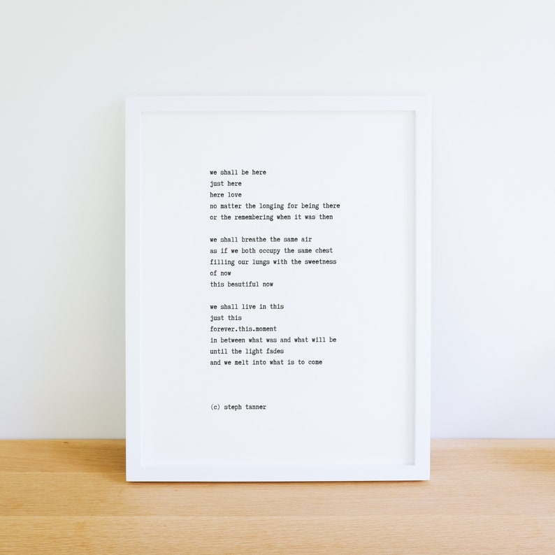 poetry print  we shall be here image 0