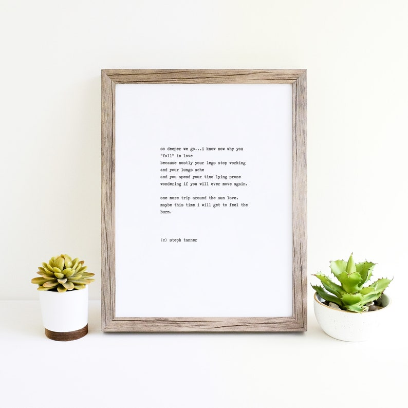 poetry print  so deeper we go image 0