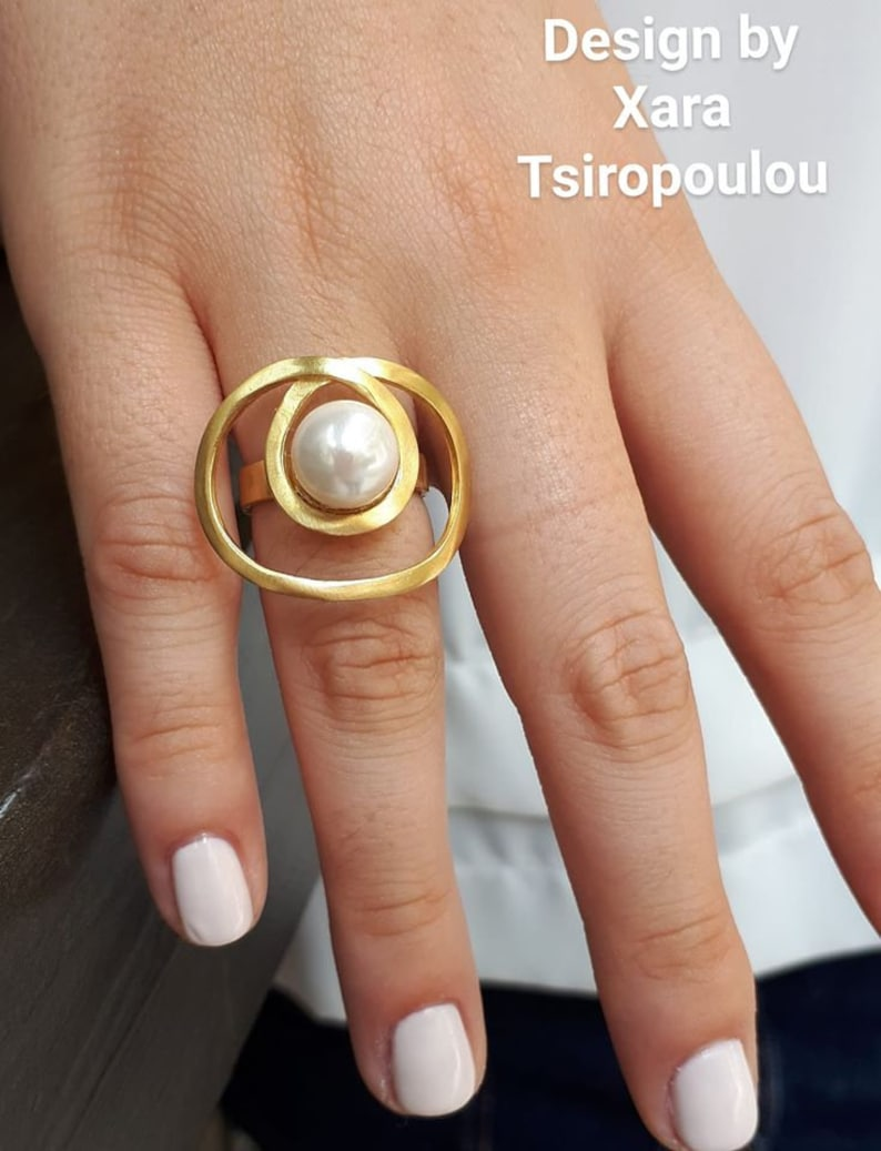 Ring Silver,Pearls Ring,Gold Ring,Bridal Ring,Pearl Jewelry,Elagant Ring,Mothers Ring,Birthday Gift,Bridal Gift,Silver Jewelry,Gold Jewelry
