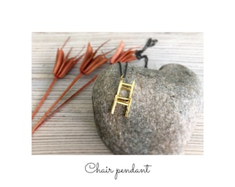 miniature chair necklace