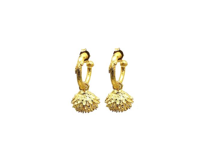 acorn hoop earrings