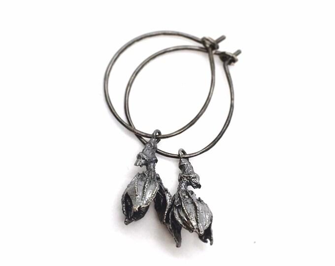 fall flower hoop earrings