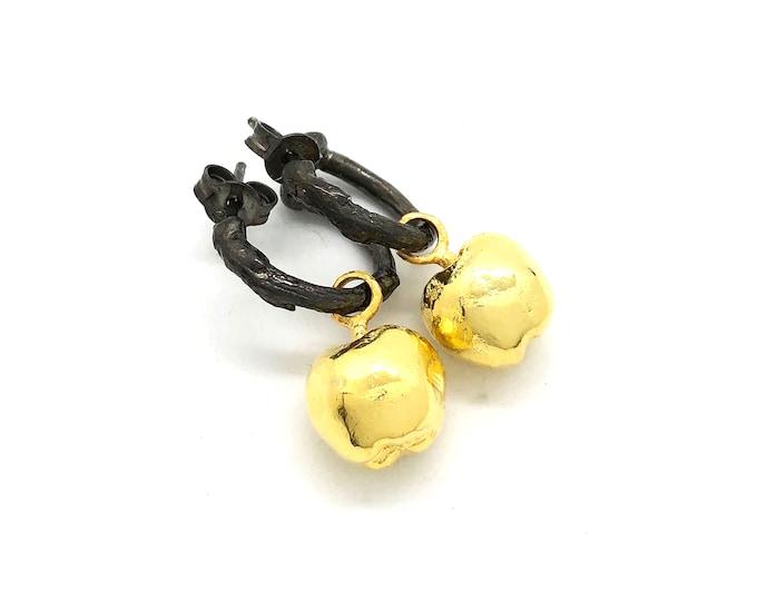 apple hoop earrings