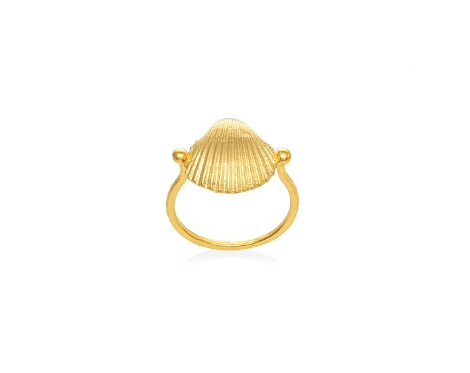 sea shell gold ring