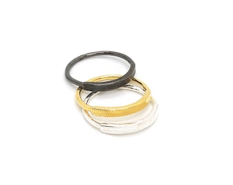 carved stacking ring