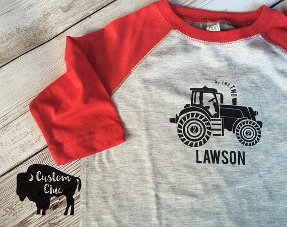 Tractor Birthday Shirt 2nd Farm