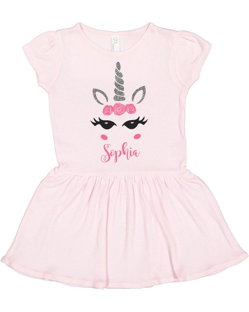 7926dbbdf Unicorn Dress Girls Unicorn Birthday Unicorn Party | Etsy