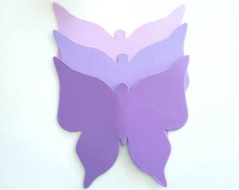 Butterfly die cuts (C),Pick Colors,Purple butterfly die cuts,Purple butterflies,Purpler Wedding decor,Lavender butterfly die cuts