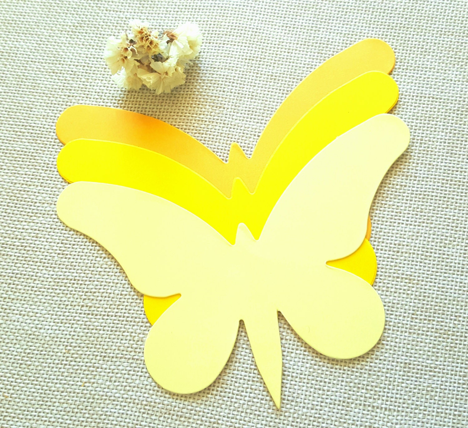 Butterfly die cuts AYellow butterfly die cutsPaper   Etsy