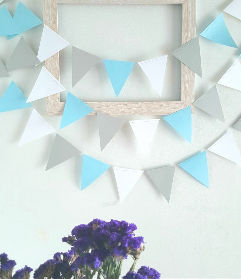 PICK YOUR COLORS,Geometric Triangle Garland,Triangle garland (12F) Wedding  Garland,Party garland,Birthday garland,Pennant garland