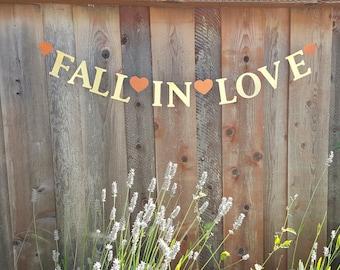 SALE!/ Fall in love banner,Falling in love banner,Autumn wedding banner,Fall bridal shower decor,Fall in love sign,Fall in love garland