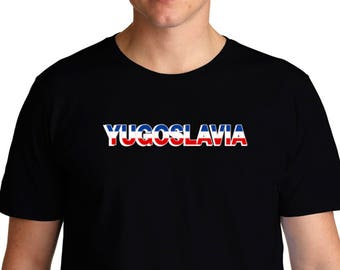 a381b1932 Yugoslavia Country Flag T-Shirt
