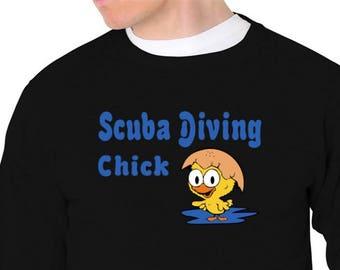 Scuba Diving Chick Sweatshirt