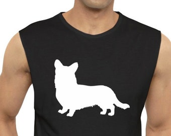 Cardigan Welsh Corgi silhouette Sleeveless T-Shirt