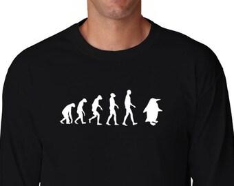 Penguin Evolution Long Sleeve T-Shirt