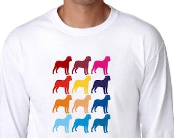 Colorful Bullmastiff Long Sleeve T-Shirt
