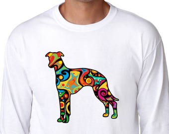 Psychedelic Whippet Long Sleeve T-Shirt