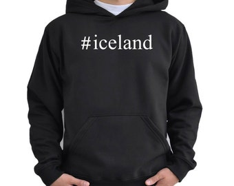 Teeburon Iceland Country Map Color Hoodie