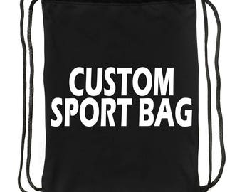 Add a text on your custom-made Sport Bag a404dba3d83e8
