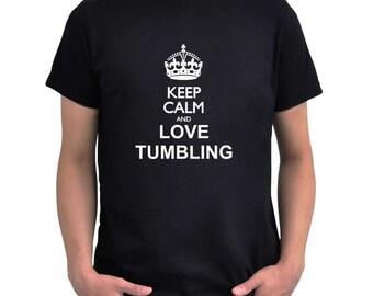 Keep calm and love Tumbling T-Shirt