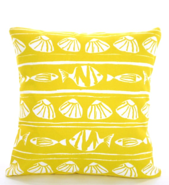 Outdoor Yellow Nautical Pillow Covers Throw Pillows Cushions Etsy