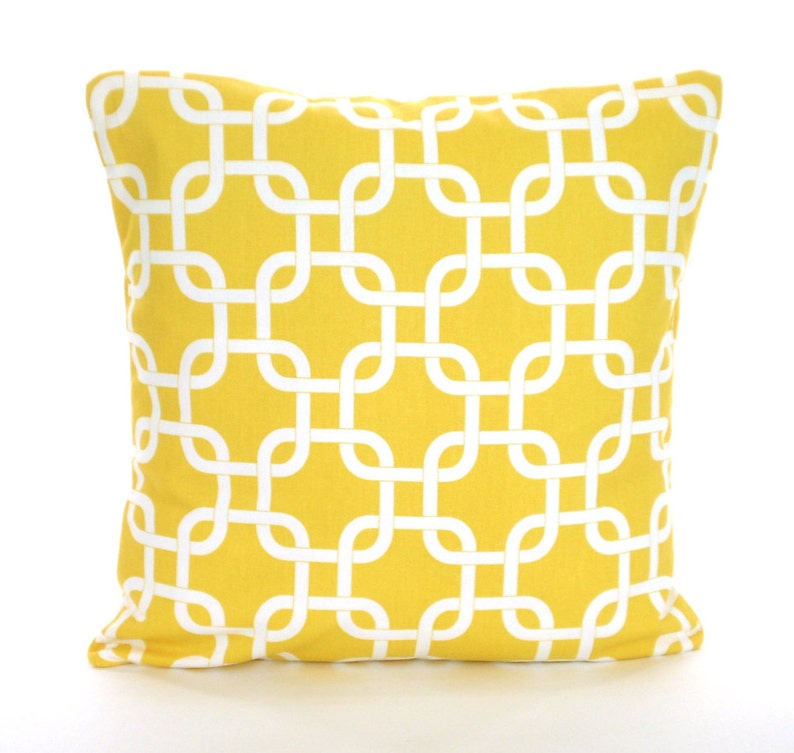 Yellow Decorative Throw Pillow Covers Cushions Corn Yellow Etsy