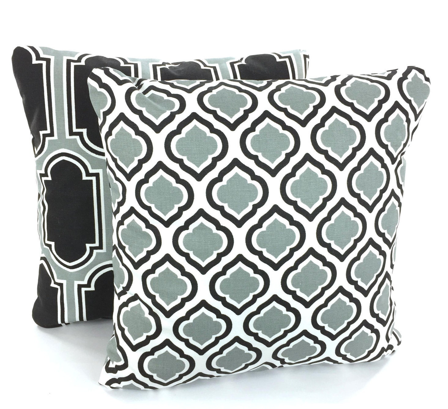 Gray Black White Throw Pillow Covers Decorative Pillows Cushion Cover Cool Grey White Fargo Curtis Couch Sofa Bed Set Of Two Various Sizes