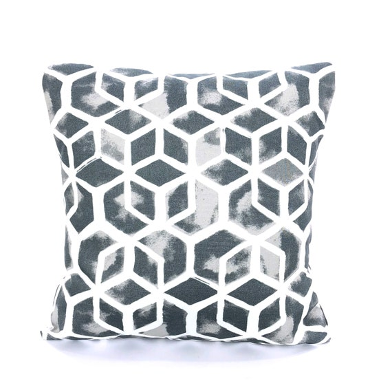 Outdoor Gray White Pillow Covers Throw Pillows Cushions Grey Etsy