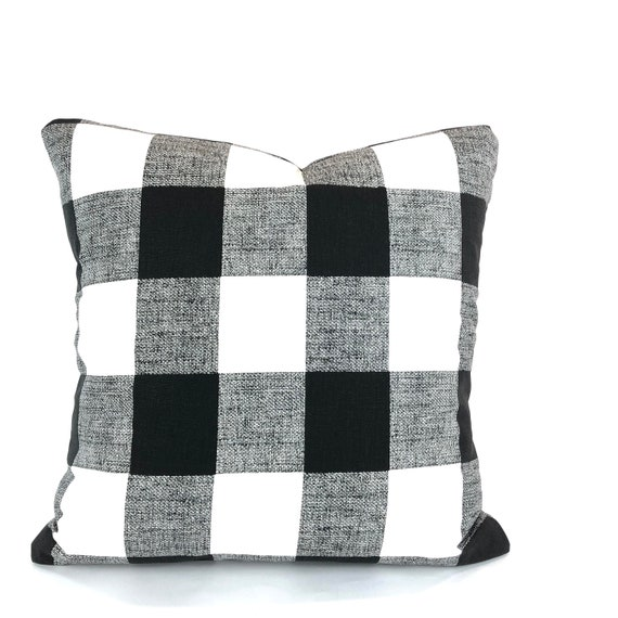 Amazing Farmhouse Black White Buffalo Check Pillow Covers Decorative Throw Pillow Cushions Black White Plaid Couch Bed Pillows Various Sizes Dailytribune Chair Design For Home Dailytribuneorg