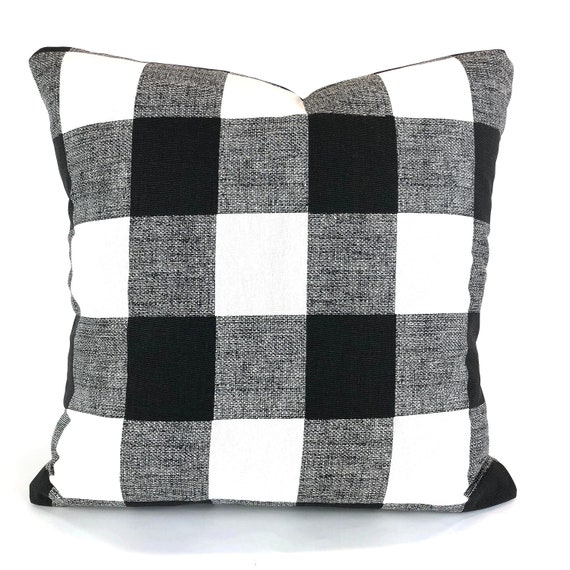 Stupendous Farmhouse Black White Buffalo Check Pillow Covers Decorative Throw Pillow Cushions Black White Plaid Couch Bed Pillows Various Sizes Short Links Chair Design For Home Short Linksinfo